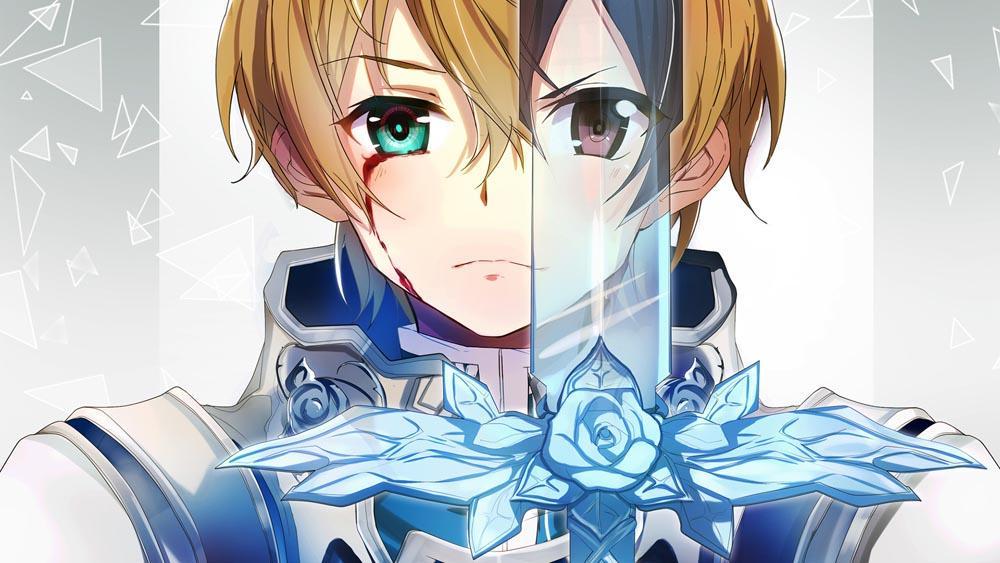 Кадр из аниме Мастера меча