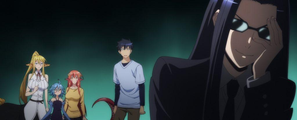 Кадр из аниме Повседневная жизнь с девушкой монстром
