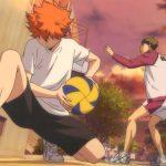Кадр из аниме Волейбол