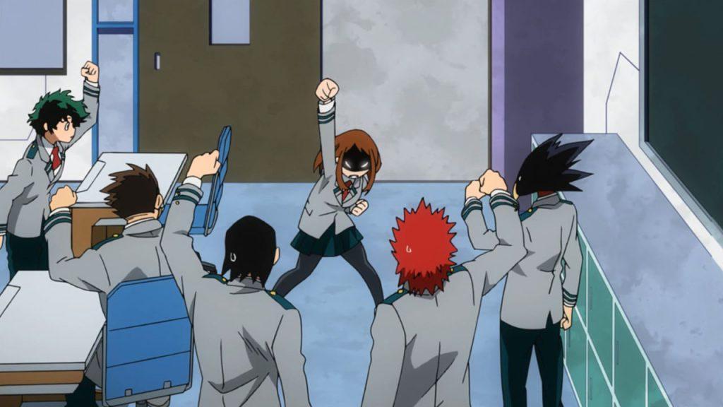 Кадр из аниме Моя геройская академия