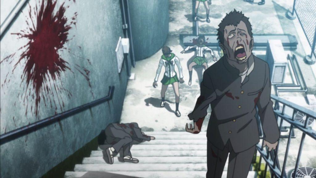 Кадр из аниме Школа мертвецов